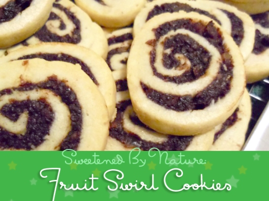 fruit swirl cookies